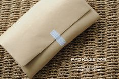 The wrapping . . . simple kraft paper with washi tape.   Sally J Shim - BLOG - [WRAP] PACKAGE 009