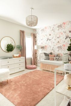 Baby – Nursery Reveal – Wohnen ideen Baby Nursery Reveal Loverly Grey Baby Nursery Reveal Loverly Grey A mix of mid-century modern bohemian and industrial interior style. Home and apartment decor decoration ideas home. Baby Bedroom, Baby Room Decor, Girl Nursery Decor, Baby Girl Nursery Bedding, Girl Nursery Colors, Bedroom Decor, Babies Nursery, Bedroom Girls, Industrial Interiors