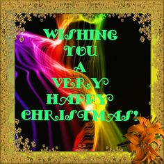 A colourful Christmas Card decked in gold. Gold, a symbol of prosperity and success. A wonderful wish to have for your friends at Christmas and New Year time.