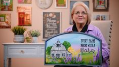 Let's Paint - FolkArt One Stroke Home Town with Donna Dewberry - February: Begins With A Barn - YouTube Art And Hobby, Donna Dewberry, One Stroke, Painting Videos, Learn To Paint, Folk Art, February, Hobbies, Barn