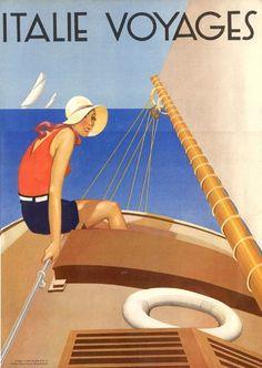 "Italie Voyages""  Ente Nazionale Industrie Turistische E.N.T.E. 1935"