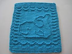 This pattern contains both written instructions and a chart. It's a companion piece to my Baby Starfish cloth and to my Baby Seahorse cloth. Dishcloth Knitting Patterns, Crochet Dishcloths, Knitting Stitches, Crochet Patterns, Kids Patterns, Easy Knitting Projects, Knitting Blogs, Crochet Projects, Cast On Knitting