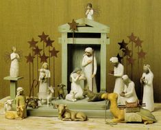 This intimate Nativity is beautifully framed by the unique Creche and companion pieces. Purchase this complete set and we will include the Creche for FREE(a $99.99 value). Qualifies for free shipping, ships next day!  We are unable to offer gift wrapping on Nativity Sets.Set includes:Original Nativity pieces