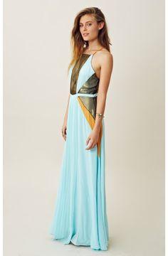 Suboo Maxi Pleated Dress