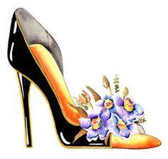 Fine Art Print Flower Shoes -Watercolor Painting Contemporary Flower Stiletto Shoe Art Giclee Posters and Prints Creative Shoes, Flower Shoes, Denim Shoes, Stiletto Shoes, Purple Lilac, Shoe Art, Flower Prints, Designer Shoes, Fashion Art