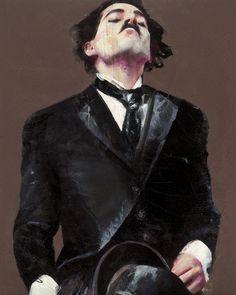 Chaplin 20; mixed media on canvas; 250x200 cm