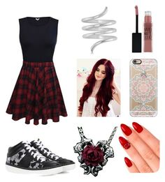 """Untitled #623"" by lucy-smith-2 ❤ liked on Polyvore featuring Jimmy Choo, Allurez, Casetify, Maybelline and eylure"
