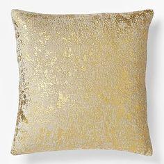 Christmas Metallic Texture Pillow Cover - Gold #westelm
