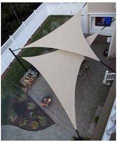 Deck Shade, Backyard Shade, Sun Sail Shade, Pergola Shade, Backyard Patio, Backyard Ideas, Pergola Garden, Deck With Pergola, Outdoor Patio Shades
