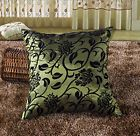 silk pillow case cushion cover Flocked Blossom Satin decor Bed Home Room Sofa 02
