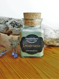 Soy Candle Scotland Inverness Man Candle man gift by ScentMePlaces Natural Candles, Soy Candles, Scotland Uk, Inverness, Outlander, Perfume Bottles, Holiday, Christmas, Highlands
