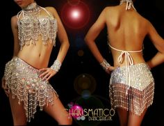 Charismatico Dancewear Store - CHARISMATICO Showgirls silver beaded bra, Belt, cuffs and collar belly-dancer set, $135.00 (http://www.charismatico-dancewear.com/products/Showgirls-silver-beaded-bra,-Belt,-cuffs-and-collar-belly%2ddancer-set.html)