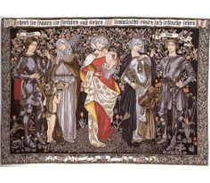 Ehret die Frauen Flemish Tapestry Wall Hanging -  Morris & Co  Designed by Pre-Raphaelite artist Marianne Stokes (born Preindisberger) 1855-1927.