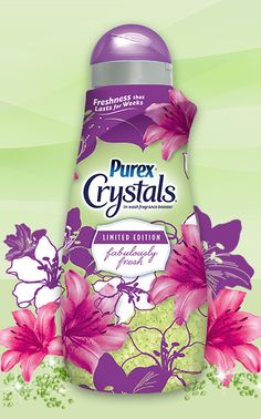This limited edition scent of Purex Crystals makes every load of laundry smell Fabulously Fresh! Tide Coupons, Eco Friendly Cleaning Products, Design Packaging, Fitness Logo, Fabric Softener, Laundry Detergent, Package Design, Soaps, Cleaning Supplies