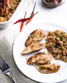 Spicy Roast Chicken with Mexican Quinoa.