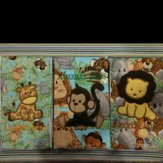 Jungle themed burp cloth set by www.justbeingfrilly.com