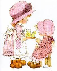 Risultati immagini per figuras de sarah kay Sarah Key, Holly Hobbie, Dibujos Cute, Australian Artists, Cute Images, Sweet Memories, Vintage Children, Paper Dolls, Printing On Fabric