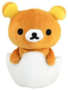 Rilakkuma Plush Egg $18.50 http://thingsfromjapan.net/rilakkuma-plush-egg/ #rilakkuma plush #san x #rilakkuma stuff #san x products