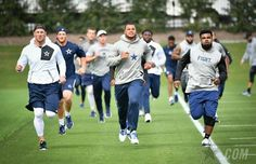 See photos from the first official team activities of the 2017 season. Cowboys 4, Dallas Cowboys Football, Football Team, Dak Prescott Cowboys, Team Activities, How Bout Them Cowboys, Workouts, Fan