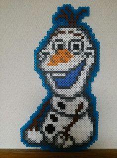Olaf Frozen perler beads