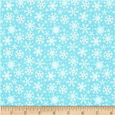 Riley Blake Santa Express Snowflake Blue