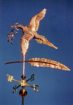Dove Weathervane - Flying - West Coast Weathervanes