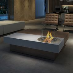 Planika ethanol fire coffee table. Contact for quote