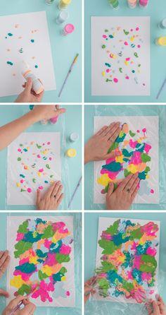 food art for kids crafts Smushed Paint Art Project for Kids! - Oh Joy! Toddler Crafts, Preschool Crafts, Fun Crafts, Wood Crafts, Process Art Preschool, Kindergarten Art Projects, Crafts For Babies, Art Crafts For Kids, Free Preschool