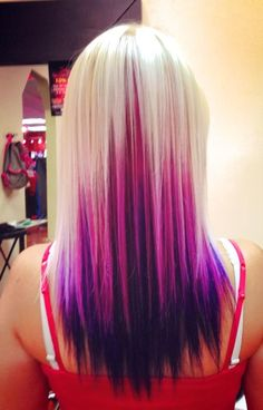 Purple and Blonde Hair | Platinum blonde, pink and purple hair! | hair