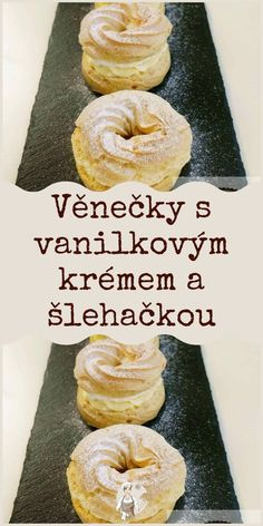 Czech Recipes, Dessert Recipes, Desserts, Doughnut, Food Inspiration, Sweet Recipes, Smoothies, Food And Drink, Cooking Recipes