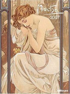 Mucha Calendar, 2007 with a detail of Times of the Day: Night's Rest, by Alphonse Mucha