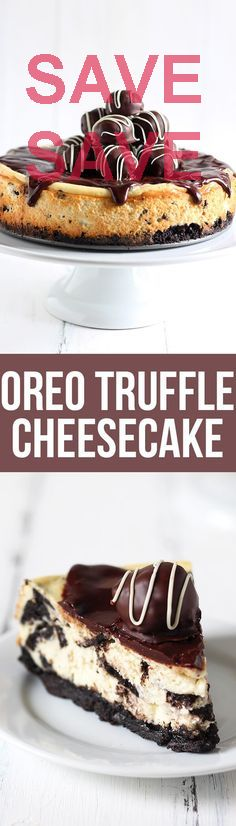 Oreo Truffle Cheesecake Oreo Truffle Cheesecake is a completely over-the-top sinful dessert with an Oreo crust, Oreo cheesecake filling, chocolate ganache, & Oreo cakez