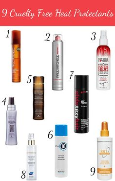 9 Cruelty Free Heat Protectants for Hair