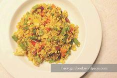 """Nachdem meine Blumekohl-Rezepte in den letzten Wochen zu euren absoluten Favoriten gehört haben, möchte ich euch heute eine neue Idee für ein leckeres """"Reis""""-Gericht präsentieren :). Diese bunte (u..."""