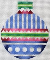 Danae # Blue Stripes Ornament 18 mesh 3 x Handpainted Needlepoint Canva Threads Sold Separately Needlepoint Patterns, Needlepoint Canvases, Cross Stitch Patterns, Christmas Cross, Christmas Ideas, Christmas Decorations, Christmas Ornaments, Plastic Canvas Christmas, Perler Beads