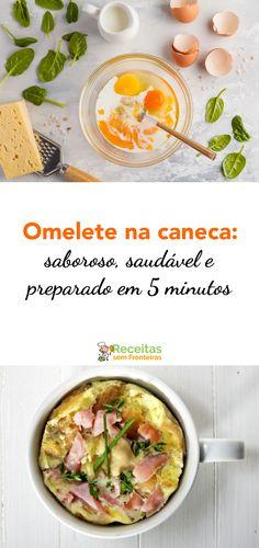 Esta receita rápida e fácil não é apenas deliciosa, também é saudável! Você pode fazer isso no micro-ondas (se você for um inimigo de microondas, também pode usar seu forno, se sua caneca for resistente ao calor).. Preparado, Cheeseburger Chowder, Low Carb, Soup, Healthy Omelette, How To Make Omelette, Roasts, Soups