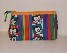 Animaniacs  Fabric Makeup Bag / Pouch  Handmade  by kraftyminds, $7.99