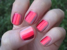 pink ombre nail