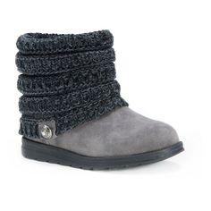 Women's Muk Luks Patti Sweater Ankle Boots - Grey 8