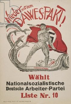 National Socialist campaign flyer with propaganda opposing the Dawes Plan, 1928