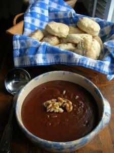 CHOCOLATE GRAVY AND BISCUITS,  My grandmother made this for all 13 grandchildren when we spent the night with her. What a treat!
