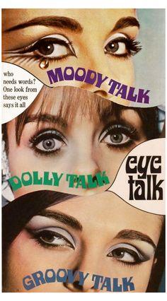 Retro Eye Makeup, 1960s Makeup, Crazy Makeup, Hair And Makeup Artist, Beauty Makeup, Hair Makeup, Makeup Eyebrows, Make Up Looks, Makeup Inspo