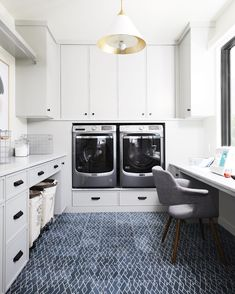 tribal pattern tile on laundry room floor. this cement tile is perfect to give any space an adventurous look. shop our artist collaboration with Eskay… – Laundry Room Laundry Craft Rooms, Laundry Room Tile, Room Tiles, Blue Laundry Rooms, Laundry Area, Laundry Room Inspiration, Laundry Room Design, White Home Decor, Tile Patterns