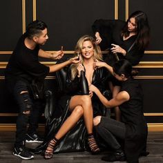 Glam Squad in full effect for our @khloekardashian!!! Kocktails with Khloé is coming to @FYI on Jan 20 So proud of you Khloe!!! #kocktailswithkhloe makeup by @etienneortega // hair by @jenatkinhair #STYLEDbyMonicaRose #KhloeKardashian by monicarosestyle