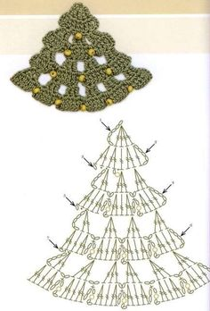 Crochet Xmas tree chart pattern