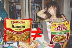 DO NOT go to college before reading about the 20 WORST things you'll experience. These are true stories. Cup Ramen, Ramen Noodle Soup, Nissin Cup Noodles, Cool Pictures, Funny Pictures, Snack Recipes, Snacks, College Hacks, Crazy People