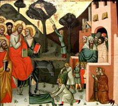 Entry into Jerusalem, Cristoforo da Bologna Jesus Painting, Jesus Stories, Life Of Christ, Cristiano, Bologna, Fine Art, Museum, Art, Will And Testament