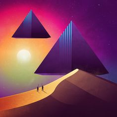 <p>Canadian illustrator James White, just released his latest illustration series entitled 'NeoWave'. A gorgeous futuristic series that transport us on a geometric planet. Today, James is
