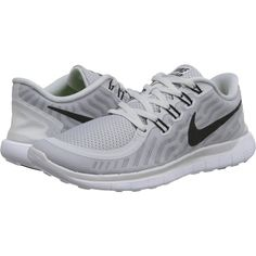 Nike Free 5.0 Women's Running Shoes ($70) ❤ liked on Polyvore featuring shoes, athletic shoes, white, breathable shoes, low top, white running shoes, white low top shoes and nike footwear