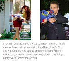 Did this at Thor's party. We ended up having to split into teams. Me on one team and Clint on the other.